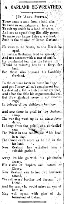 "Image of ""A Garland Re-Wreathed"" poem from 1914."