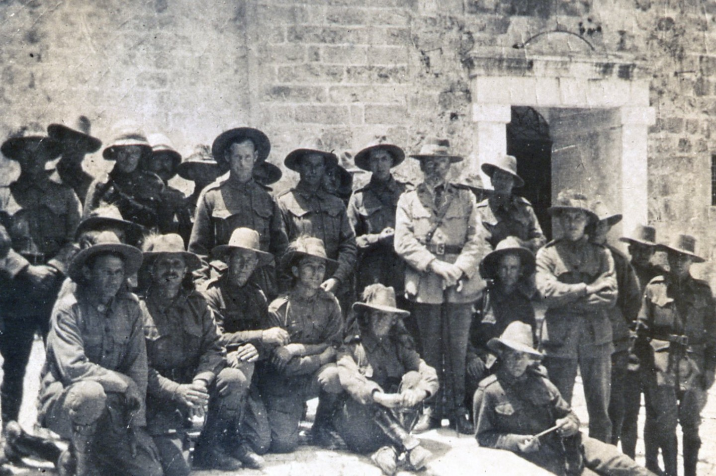 Fr Garland with troopers in Egypt, circa 1917-1919.