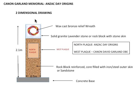 "Early schematic of proposed ""Garland Memorial."