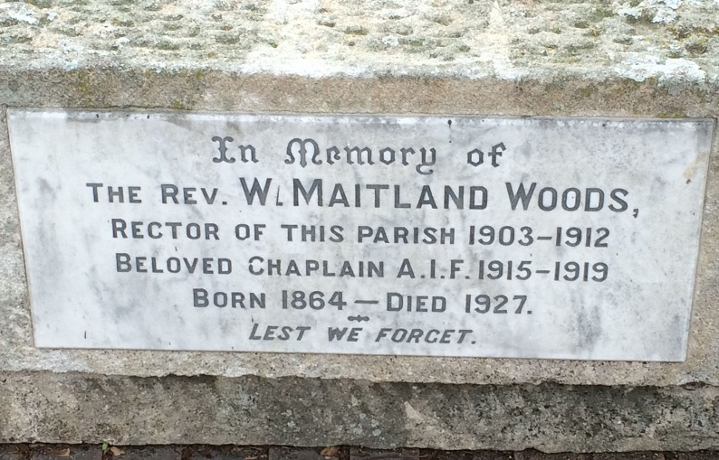 Woods plaque