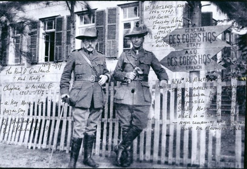 Image of Canon Garland on the Western Front, circa 1918.