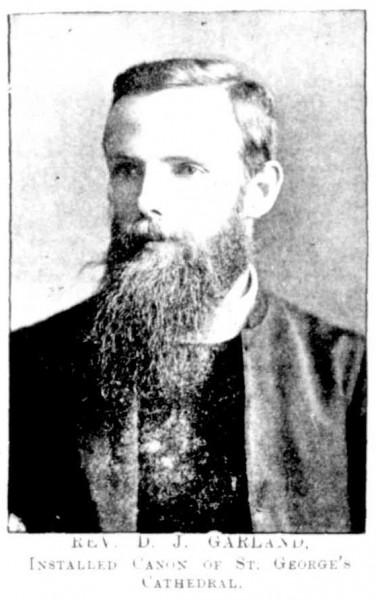 Image of Canon David John Garland in June 1900.