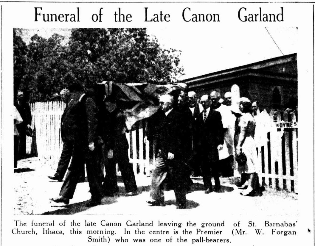 Funeral cortege of Fr Garland on 10 August 1939.