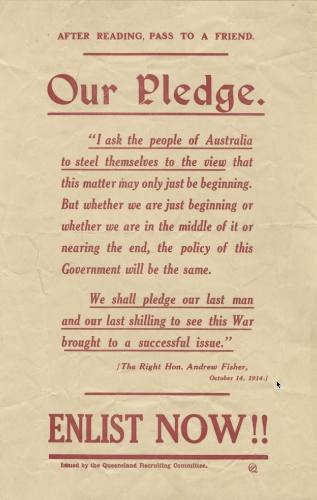 THE PLEDGE - 1915
