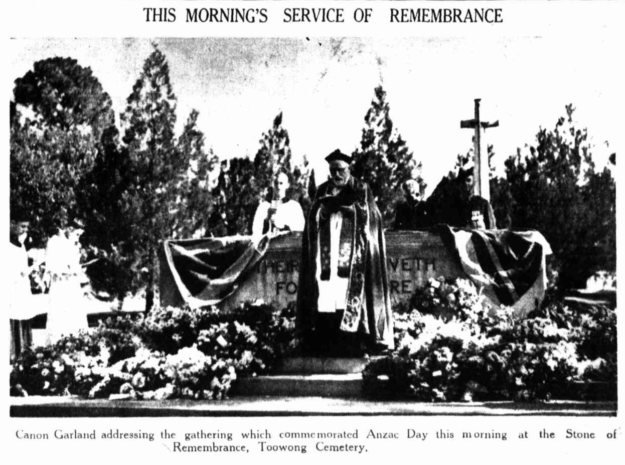 ANZAC Day 1937 at Toowong Cemetery.